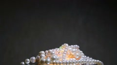 Pearl jewelry isolated Stock Footage