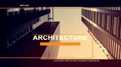 Architecture Slide Stock After Effects