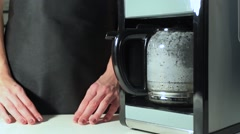 Coffee machine makes coffee Stock Footage