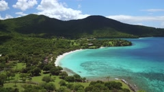 Aerial view of Caneel Bay, St John, United States Virgin Islands Stock Footage