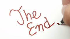 Writing macro the end timelapse Stock Footage