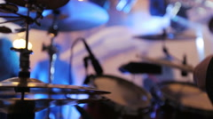 Man plays on drums at the wedding Stock Footage