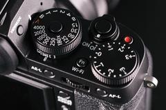 Close up view of DSLR camera Stock Photos