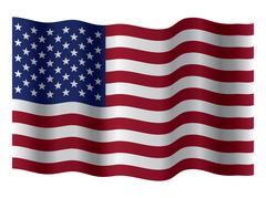 Vector waving flag of united states of america Piirros