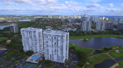 Aerial video tour Aventura FL Stock Footage