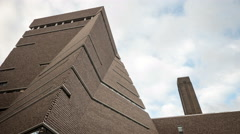 New Tate Modern extension, London - low, wide angle time lapse Stock Footage