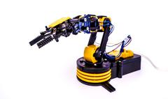 Plastic model of industrial robotics arm  Robot manipulator Kuvituskuvat