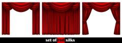 Three theater curtain Stock Illustration