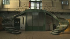 Old liberty syle hydropower plant interior  Stock Footage