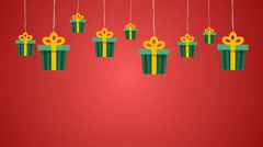 Christmas Gifts Background Stock Footage