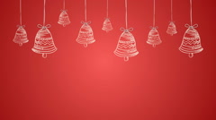 Christmas Bell Background Stock Footage