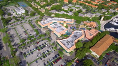 Aerial video of Shoppes At the Waterways Stock Footage