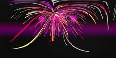 Pink Fireworks VR 360 4K Background Equirectangular Footage Stock Footage
