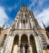 Ulm Minster (German: Ulmer Münster) is a Lutheran church located in Ulm, Ger Stock Photos