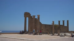 Acropolis (Lindos on Rhodes in greece, Europe) Stock Footage