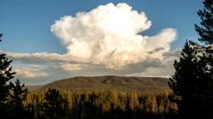 Timelapse of thunderhead cloud at sunset Stock Footage