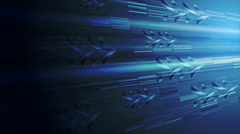 Dark blue technology animated background with arrows Stock Footage