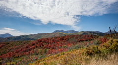 Time lapse over colorful landscape in Fall Stock Footage