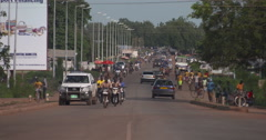 Main street of Tamale Stock Footage