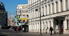 Building the vodka manufacturer Smirnoff Pyatnitskaya street Stock Footage