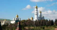 The view from the top, the ensemble of the Kremlin, Churches and cathedrals Stock Footage