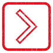 Arrowhead Right Icon Rubber Stamp Stock Illustration