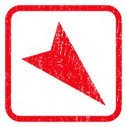 Arrowhead Right-Down Icon Rubber Stamp Stock Illustration