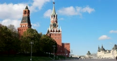 The architectural ensemble of the Moscow Kremlin. The Eastern wall. Stock Footage