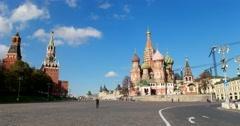 Vasilevsky descent, St. Basil's Cathedral, Moscow Kremlin Stock Footage