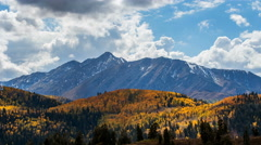 Time lapse of Mount Nebo during Fall Stock Footage