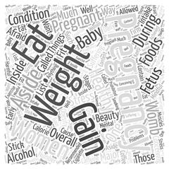Pregnancy weight gain word cloud concept Stock Illustration