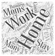 Work For Stay At Home Moms word cloud concept Stock Illustration