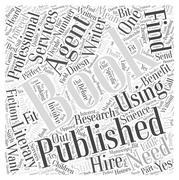 Getting a Book Published Do You Need an Agent word cloud concept Stock Illustration
