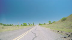 Car driving on paved road in Chatfield State Park.-POV point of view. Stock Footage