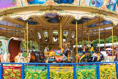 Pretty carousel adventure amusement park Kuvituskuvat