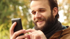 Man Reading Good News Stock Footage
