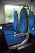 Electric train sits interior express Stock Photos