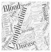 Complications Associated with Juvenile Diabetes word cloud concept Stock Illustration