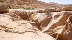 Flash flood in Nahal Zin Negev Israel Stock Footage