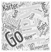 The Right Clothes for Go Karting word cloud concept Stock Illustration