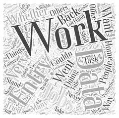 Shall I Work Data Entry Jobs word cloud concept Stock Illustration