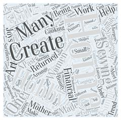 Home and hobby word cloud concept Stock Illustration