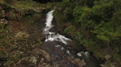 Aerial Shot Pulls Away From Daggs Falls Stock Footage