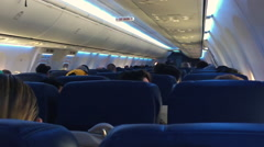 Airplane Interior Stock Footage