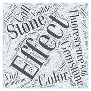 Identifying gemstones word cloud concept Stock Illustration