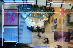 High Tech - Security Scan - Mall - people walking - Shopping Centre - Waffle  Stock Footage