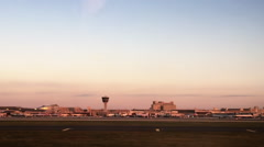 Philadelphia Airport Drive by at Dawn Stock Footage
