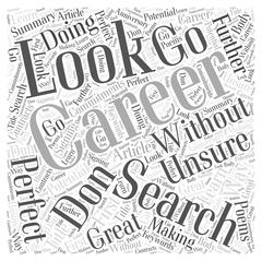 Search With A Career Search word cloud concept Stock Illustration