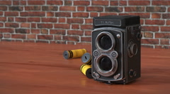 Twin Lens Reflex Camera Stock Footage