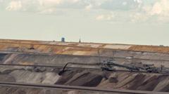 Tagebau Garzweiler: stacker in a lignite mine Stock Footage